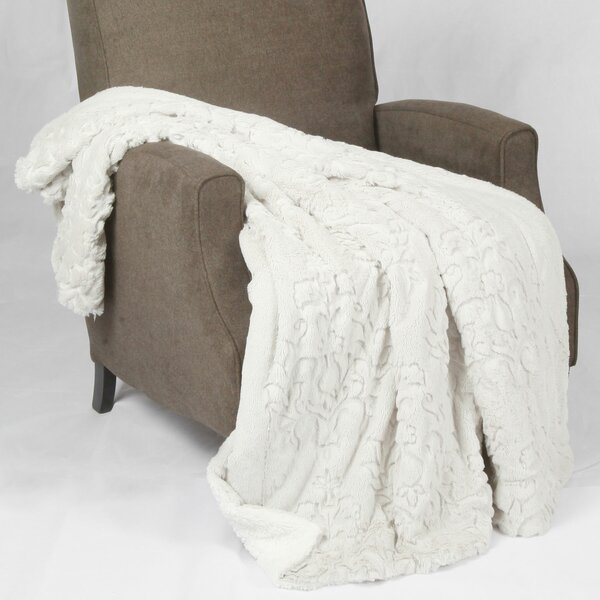 Clare Faux Fur and Sherpa Throw Blanket by Zipcode Design
