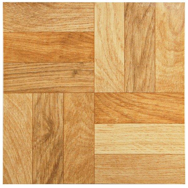 Dixie 12 x 12 Ceramic Wood Look/Field Tile in Brown by EliteTile