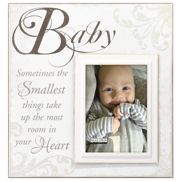 Baby Scripts Picture Frame by Malden
