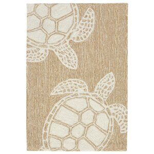 Claycomb Turtle Hand-Tufted Natural Indoor/Outdoor Area Rug