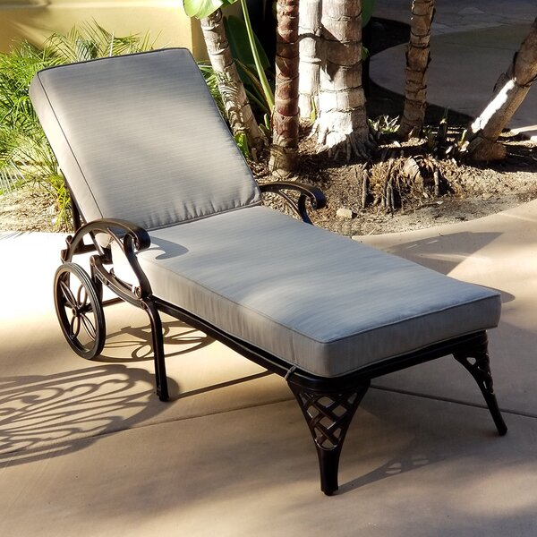 Timothy Reclining Chaise Lounge with Cushion by One Allium Way