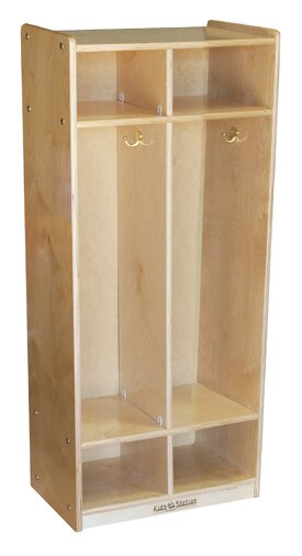 3 Tier 2 Wide Coat Locker by Kids' Station