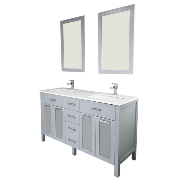 Drake 72 Double Bathroom Vanity Set with Mirror