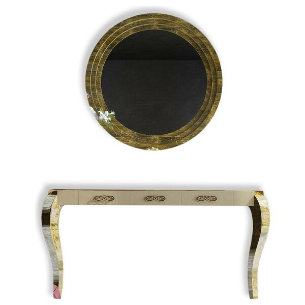 Farragutt Console Table and Mirror Set by Rosdorf Park Rosdorf Park