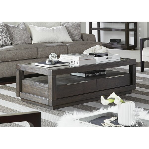 Paralimni Floor Shelf Coffee Table With Storage By Wrought Studio™