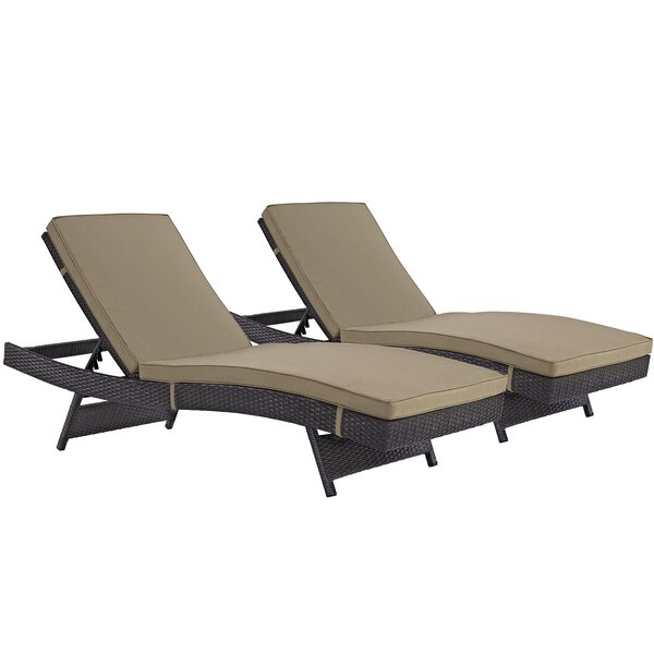 Brentwood Chaise Lounge Set with Cushion (Set of 2) by Sol 72 Outdoor Sol 72 Outdoor