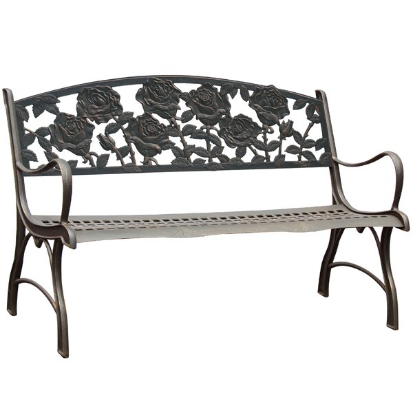 Middlebrook Rose Cast Iron Park Bench by Canora Grey