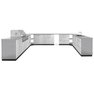 Kitchen 19 Piece Outdoor Bar Center Set By NewAge Products