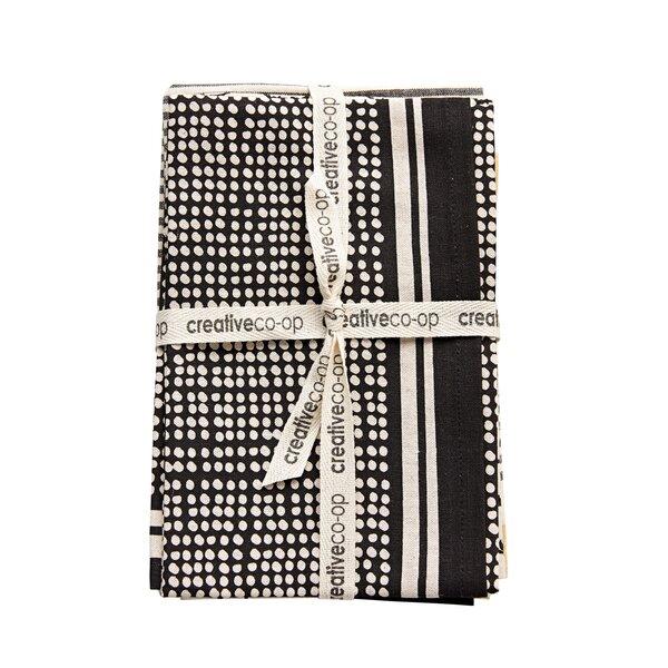 3 Piece Patterned Cotton Tea Towels Set by Mistana