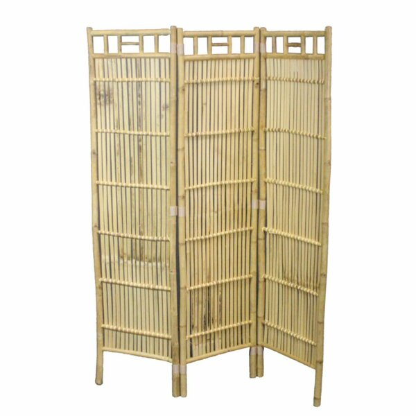 Vaughan Minimalist Foldable Bamboo 3 Panel Room Divider by Bay Isle Home
