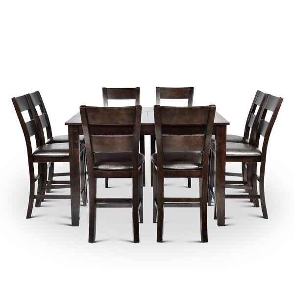 Wynwood Counter Height Dining Set with 8 Side Chairs by Alcott Hill