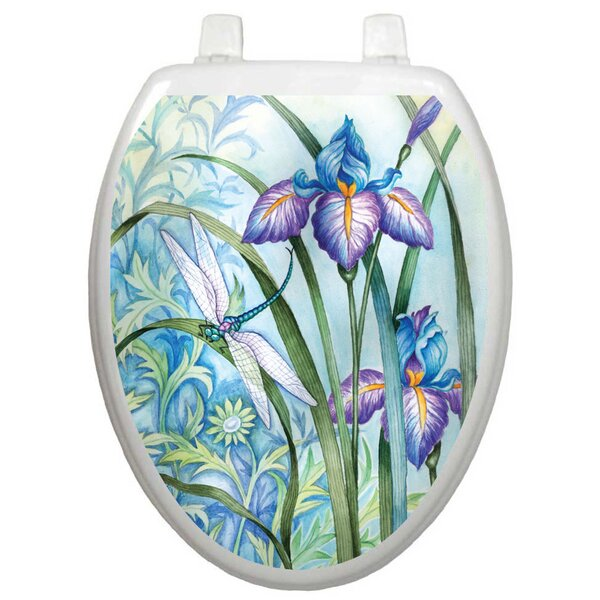 Themes Iris Beauty Toilet Seat Decal by Toilet Tat