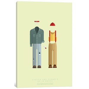 'Famous Hollywood Costumes Series: Cheech and Chong' Graphic Art Print on Canvas by East Urban Home