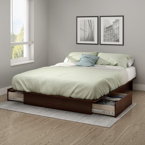 Step One Full/Queen Platform Bed with Drawers by South Shore