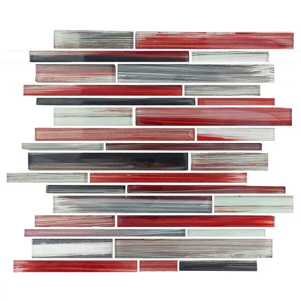 Abbott Random Sized Glass Mosaic Tile in Multi-Red by Epoch Architectural Surfaces