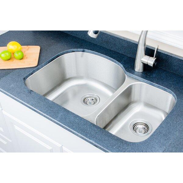 Craftsmen Series 32 L x 21 W Double Basin Undermount Kitchen Sink