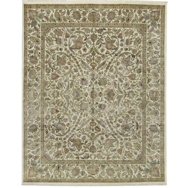 One-of-a-Kind Chantel Hand-Knotted Gray 12' x 15' Area Rug