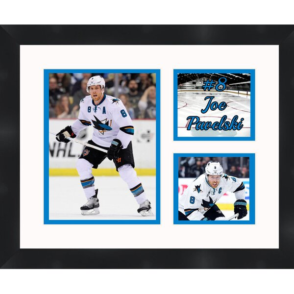 San Jose Sharks Joe Pavelski 8 Photo Collage Framed Photographic Print by Frames By Mail