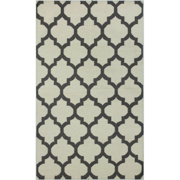 Rockport Ivory/Grey Area Rug by Bashian Rugs