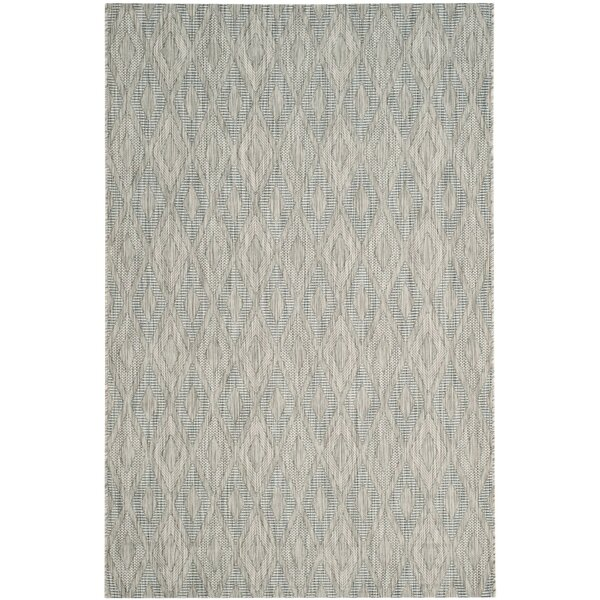 Davy Gray/Wheat Geometric Indoor/Outdoor Area Rug by Greyleigh
