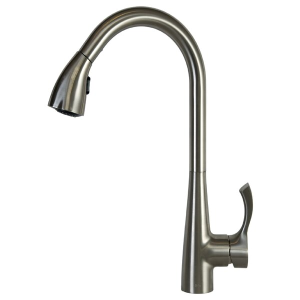 Pull Down Single Handle Kitchen Faucet by Spring Faucet