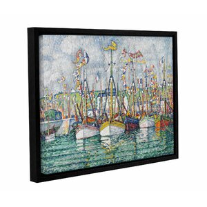 Blessing of the Tuna Fleet at Groix, 1923 by Paul Signac Framed Painting Print on Wrapped Canvas by Breakwater Bay