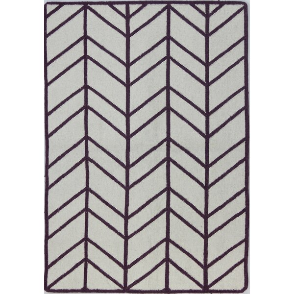 Rockport Ivory & Lilac Area Rug by Bashian Rugs