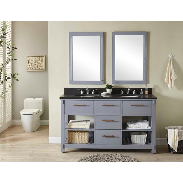 Greenbaum 61 Double Bathroom Vanity Set by Wrought Studio