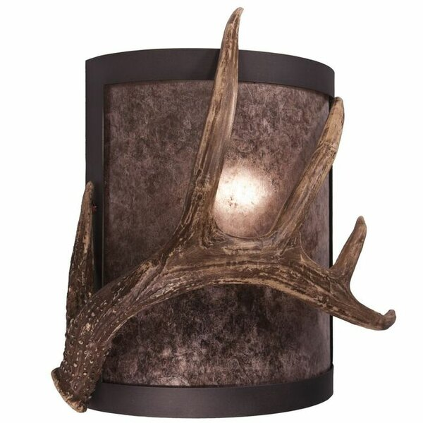 Timber Ridge 1-Light Antler Wall Sconce by Steel Partners