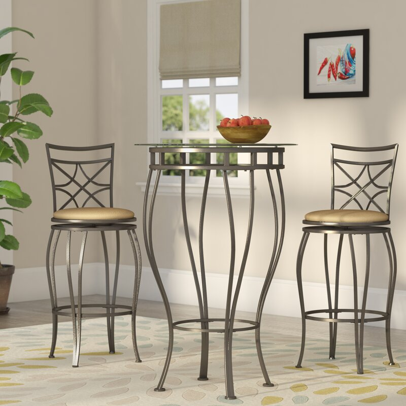 Northridge 3 Piece Pub Table Set & Alcott Hill Northridge 3 Piece Pub Table Set u0026 Reviews | Wayfair