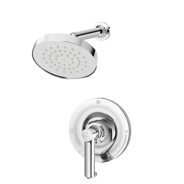 Museo Single Handle Thermostatic Shower Faucet with Metal Lever Handle by Symmons