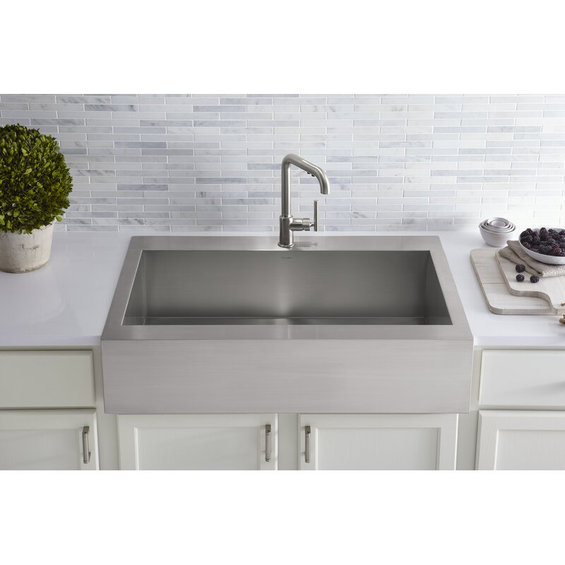 Vault Top Mount Single Bowl Stainless Steel Kitchen Sink With