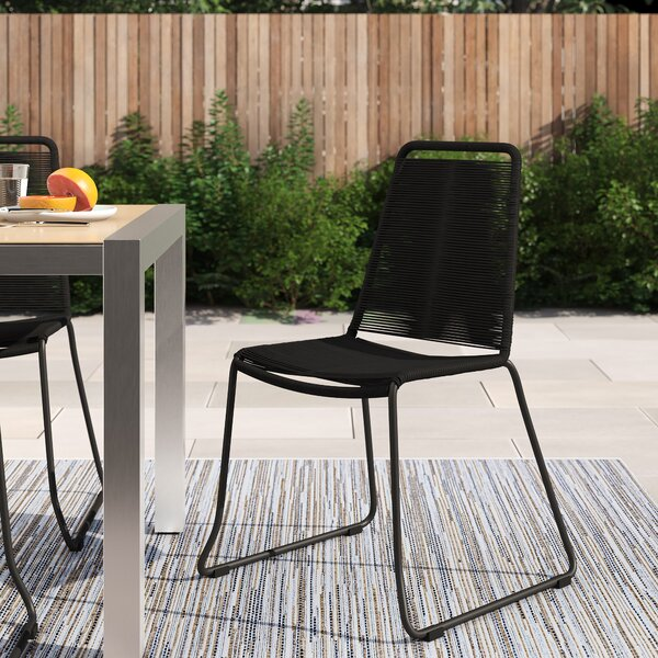 Raina Stacking Patio Dining Chair (Set Of 2) By Foundstone