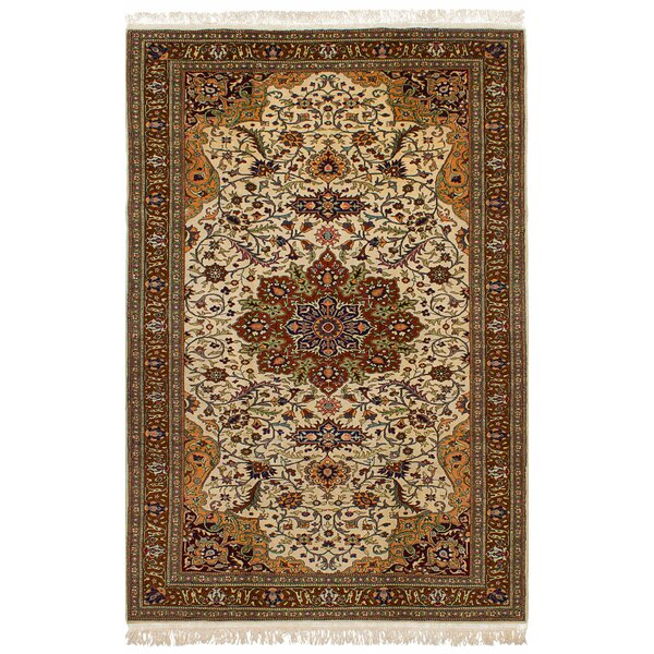 One-of-a-Kind Amberley Hand-Knotted Wool Cream Area Rug by Astoria Grand