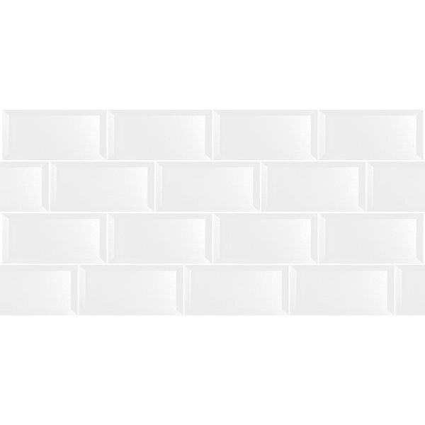 Secret Dimensions 3 x 6 Glass Subway Tile in Glossy White by Abolos