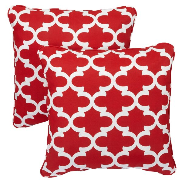 Kuhlmann Indoor/Outdoor Throw Pillow (Set of 2) by Mercury Row