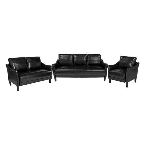 Lafon Upholstered 3 Piece Living Room Set by Ebern Designs
