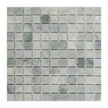 Ming 1 x 1 Marble Mosaic Tile in Green by Seven Seas