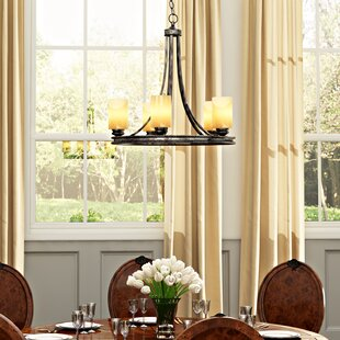 russell farm 5 light candle style chandelier - Industrial Lighting Dining Room