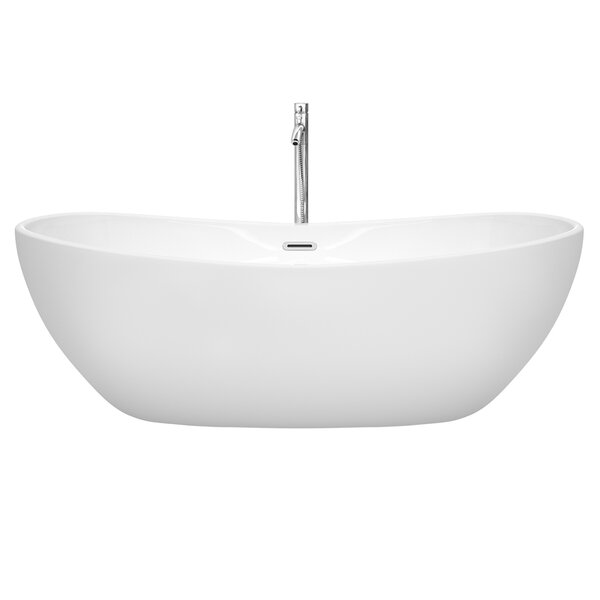 Rebecca 70 x 32 Freestanding Soaking Bathtub by Wyndham Collection