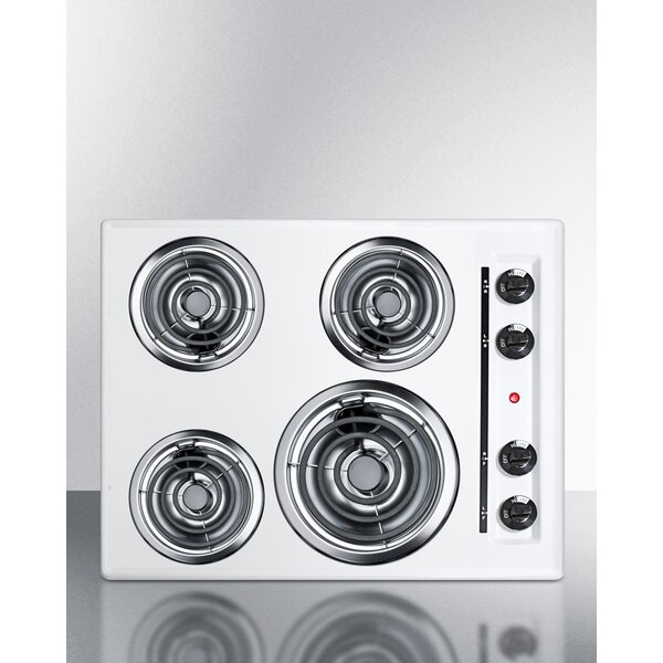 Summit 24 Electric Cooktop With 4 Burners By Summit Appliance.