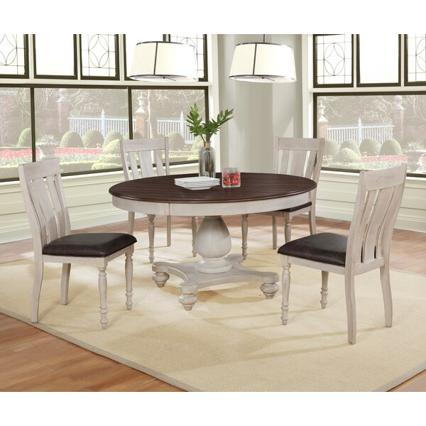 Mixon 5 Piece Solid Wood Dining Set by August Grove August Grove