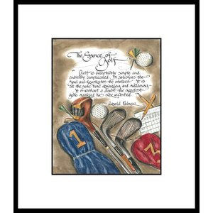 Life Lines Golf Arnold Palmer by Lori Voskuil-Dutter Framed Graphic Art by LPG Greetings