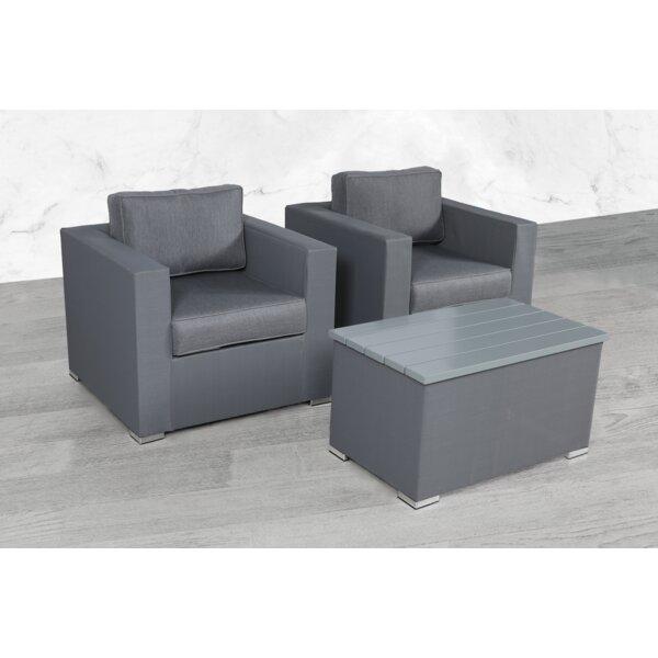 Frisbie 3 Piece Seating Group with Cushions by Orren Ellis Orren Ellis