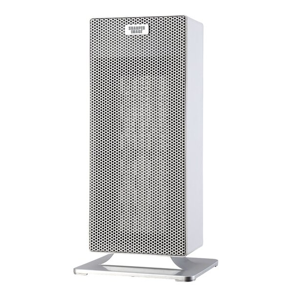Portable Electric Tower Heater with Thermostat by Sharper Image