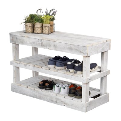 Brilliant Laurel Foundry Modern Farmhouse Barnwood 8 Pair Shoe Storage Gmtry Best Dining Table And Chair Ideas Images Gmtryco