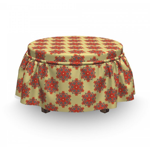 Floral Like Surreal Ottoman Slipcover (Set Of 2) By East Urban Home