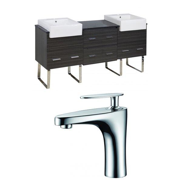 Alican 74 Double Bathroom Vanity Set