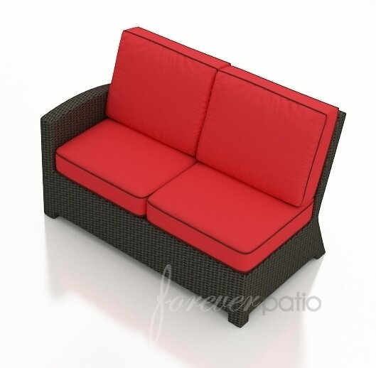 Kham Left Arm Facing Sectional Loveseat with Cushions by Wrought Studio