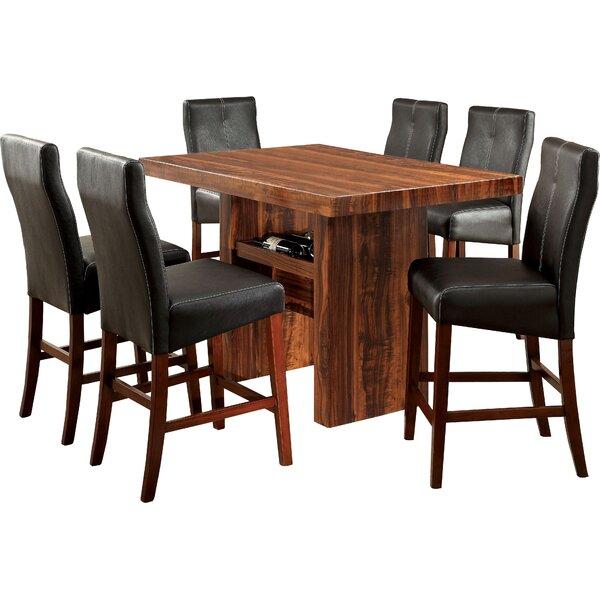 Carroll 7 Piece Counter Height Pub Table Set by Hokku Designs